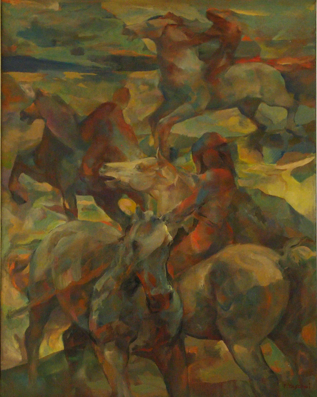 Amazzoni, olio su tela, 1986