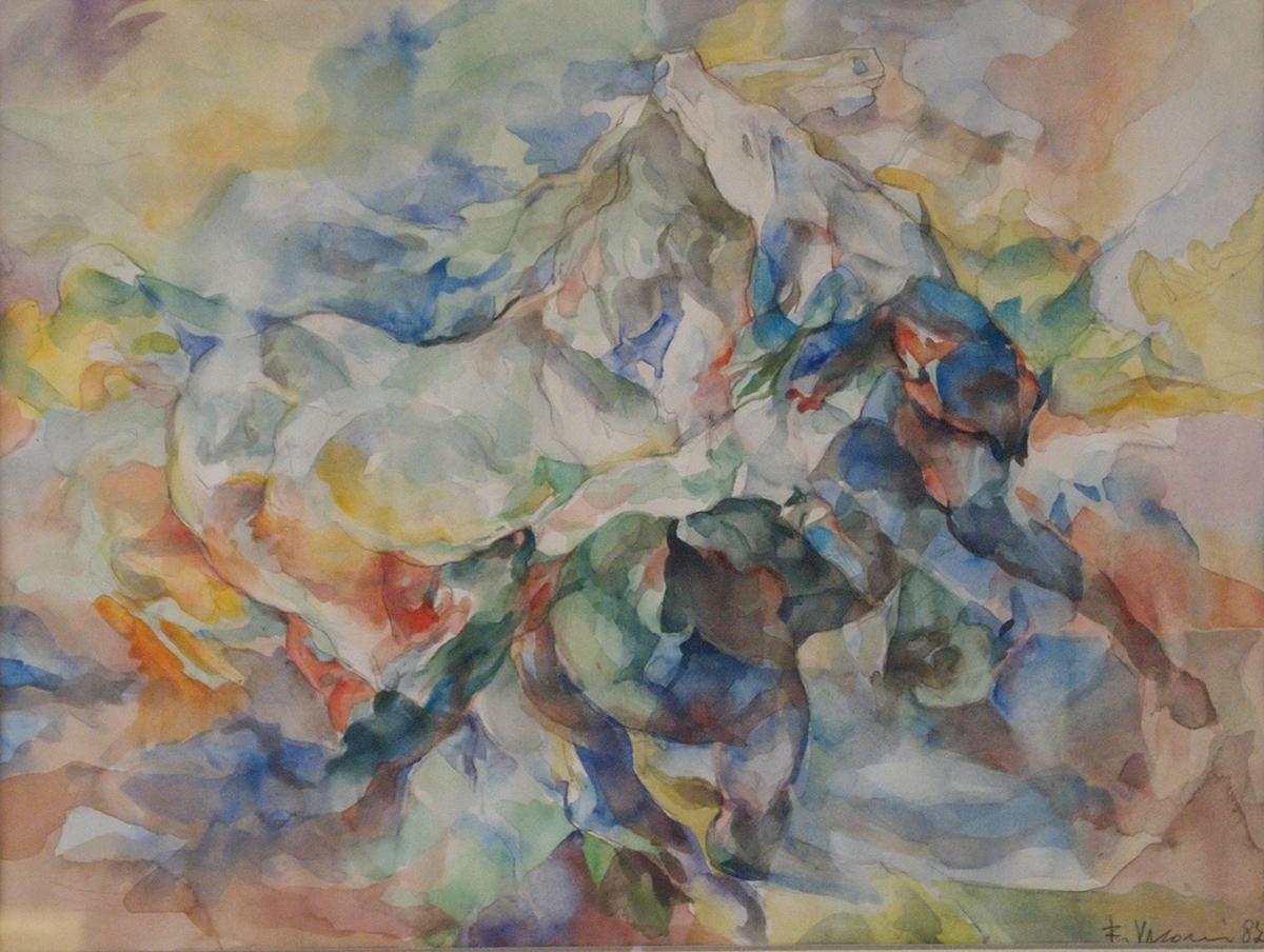 Cavalli acquarello-50×70