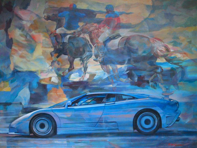 """Bugatti EB110 GT - """"Cavalli e cavalieri"""""""