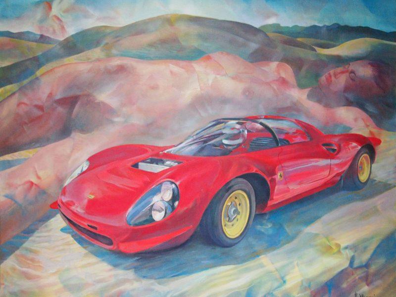 """La Dino 206 del 1966 """"Anaologie di forme"""""""